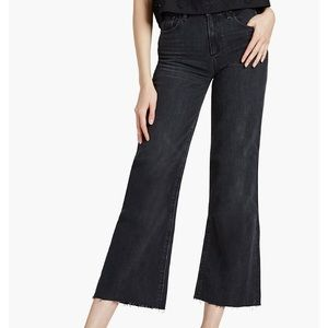 NWT Lucky Brand Wide Leg Raw Hem Cropped Jeans 27